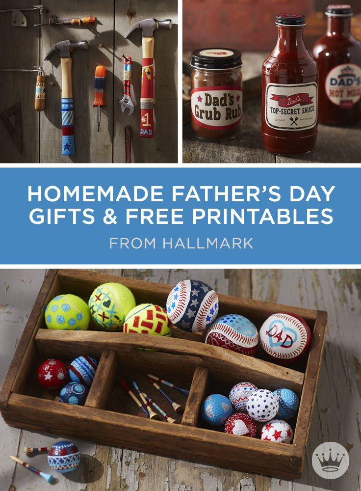10 Homemade Father's Day Gifts | Show Dad he's your MVD (Most Valuable Dad) with a useful gift made just for him. Includes free printables and instructions to make 10 unique gifts for Father's Day, birthdays or just because. #Hallmark #HallmarkIdeas