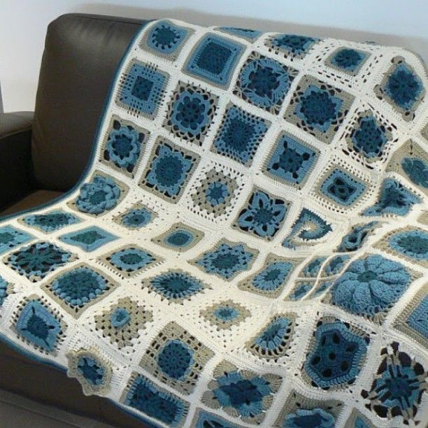 Spotlight Crochet Patterns : Spotlight. Each square is a different pattern from a couple of crochet ...