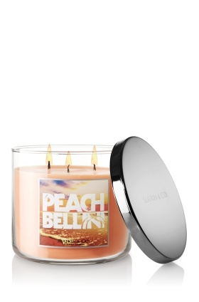 Slatkin Candles: Bath And Body Works, Bath Body Works, Bellinis Candles, Work Peaches, Bbw, Faces Powder, Peaches Bellinis, 14 5 Oz, 3 Wicked Candles