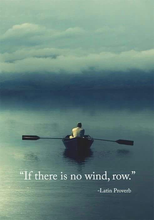 """""""If there is no wind, row.""""   ~ Latin Proverb~"""