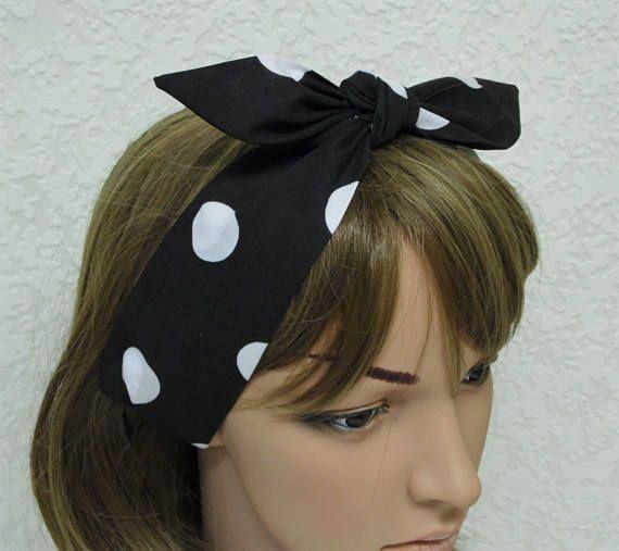 Fascia retrò polka dot fascia pin up stile foulard legare