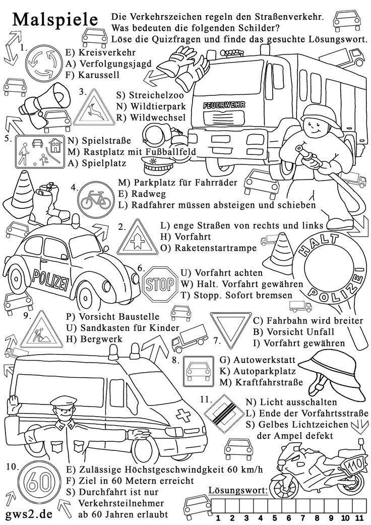 Verkehrsschilder Malvorlagen Gratis - tiffanylovesbooks