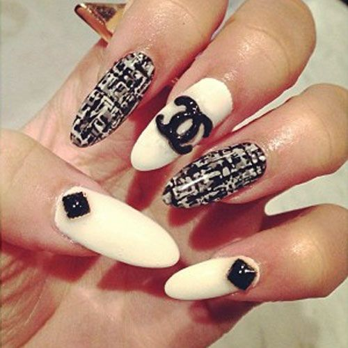 Best 25 chanel nails design ideas on pinterest chanel nail art zendaya nail art google search prinsesfo Image collections