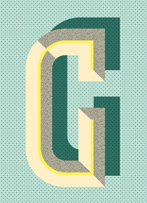 G - Typographic Poster by Ruth Vissing