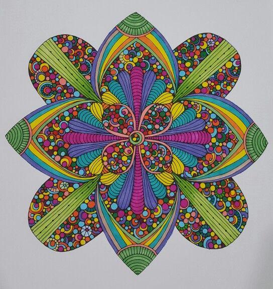 Confetti using pens,  colored by Vicki Patterson. A Valentina Harper design.