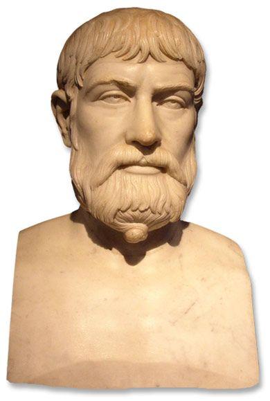 Píndaro es uno de los más célebres poetas líricos de la Grecia clásica. Se cree que nació hacia el 518 a. C. Según la tradición, pertenecía a una familia aristocrática. Pasa su infancia y primera juventud en Tebas y en Atenas, donde fue discípulo de Agatocles