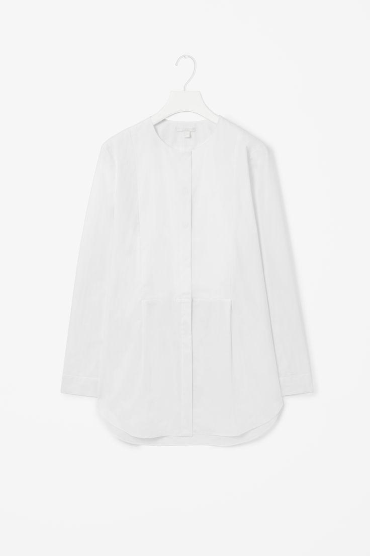 Silk front shirt