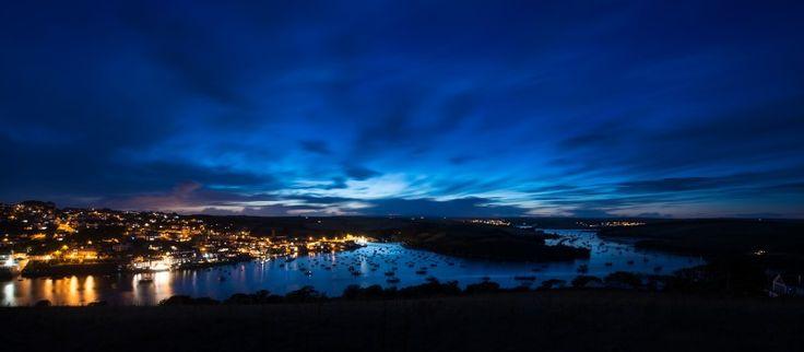 Devon landscape, Salcombe estuary during the twilight hours