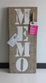 Memo plank steigerhout