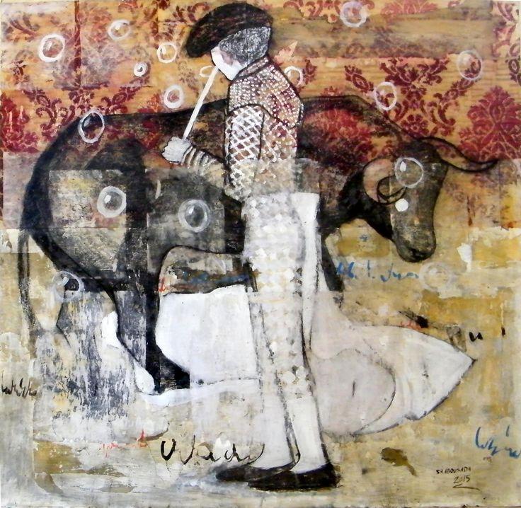 Mixed media on canvas 100 x 100 cm 2015 @Mark Hachem Gallery #shadi_abousada #syrian_artist #شادي_أبوسعدة #shadiabousada #art #painting #shadow #markhachemgallerybeirut #artwork #acrylic #pink #artgallery #fineart #color #canvas #contemporary #exihibtion #beirut #gemmayzeh #dubai #lebanon #syria #holland #paris #painting #bullfighting #shadow #jordan