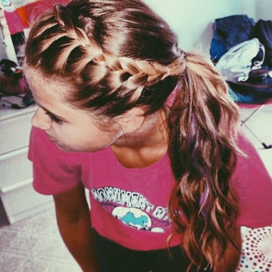 Braid into a ponytail.