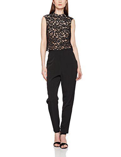 fbe8f3042adb ESPRIT Collection Damen Jumpsuits 037EO1L002 Schwarz (Black 001) 42. Ein  absolutes Highlight ! Eleganter Jumpsuit mit hochwertiger und schme…