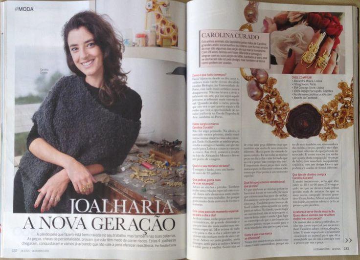 CAROLINA CURADO in Activa Magazine