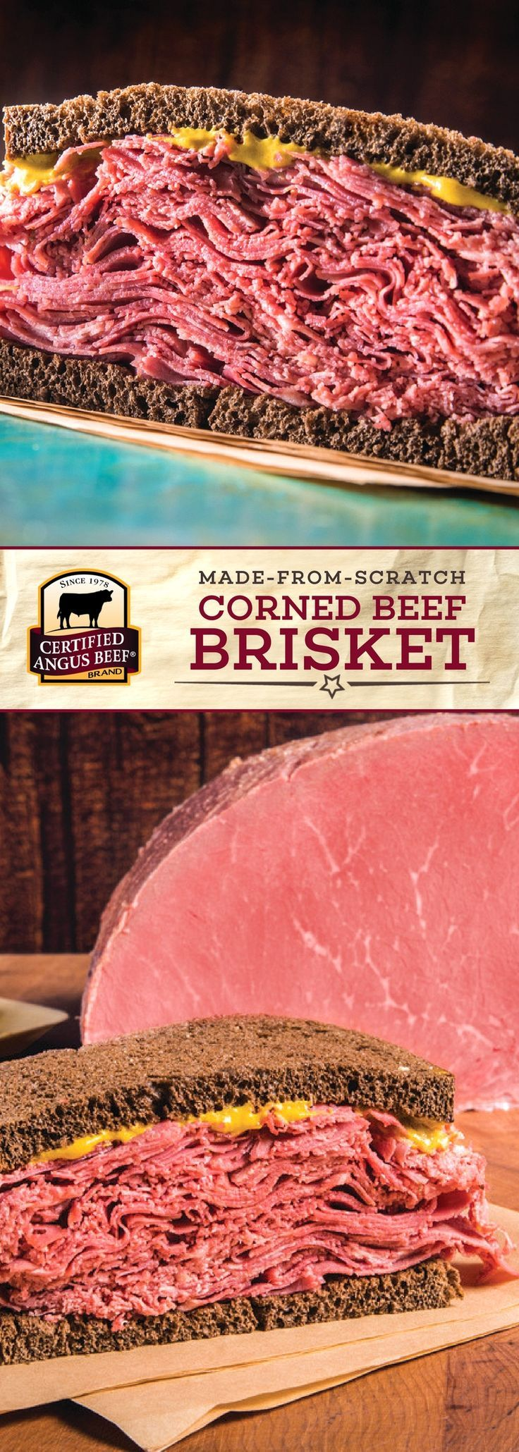 Certified Angus Beef®️️️️️️ brand Made-from-Scratch Corned Beef Brisket is a flavor-packed dish, perfect for sandwiches or hash! This dish uses the best brisket flat and an ideal brine of spices for a melt-in-your-mouth delicious meal that you can make right in your SLOW COOKER.  #bestangusbeef #certifiedangusbeef #beefrecipe #slowcookerrecipes