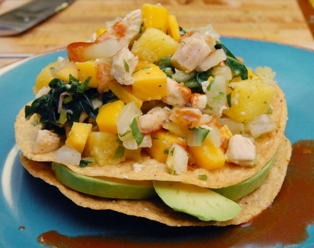 grilled chicken and pineapple tostadas recipe