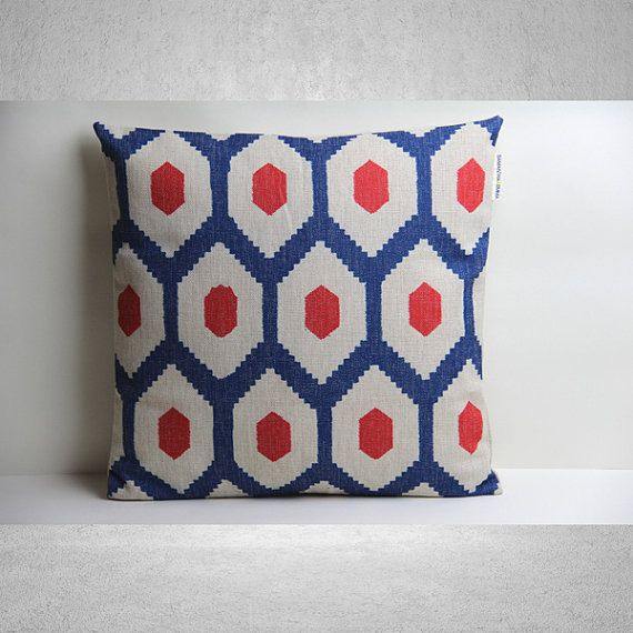 Couvrir les géométriques coussins/couverture, oreiller, coussins décoratifs/couverture, taie d'oreiller, housse de coussin, lin coussins/couverture, oreiller Throw, : Textiles et tapis par pillows
