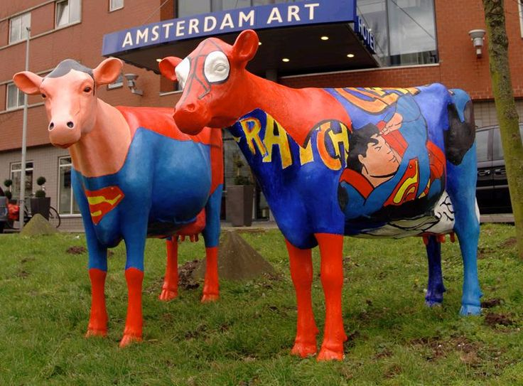 My favorite hotel in Amsterdam, the Golden Tulip Inn Amsterdam Art, has been renamed the Tulip Amsterdam Fashion. I hope the Superman cows survived the aesthetic shift.
