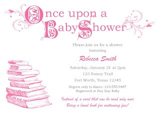 Baby Shower Invite - book theme