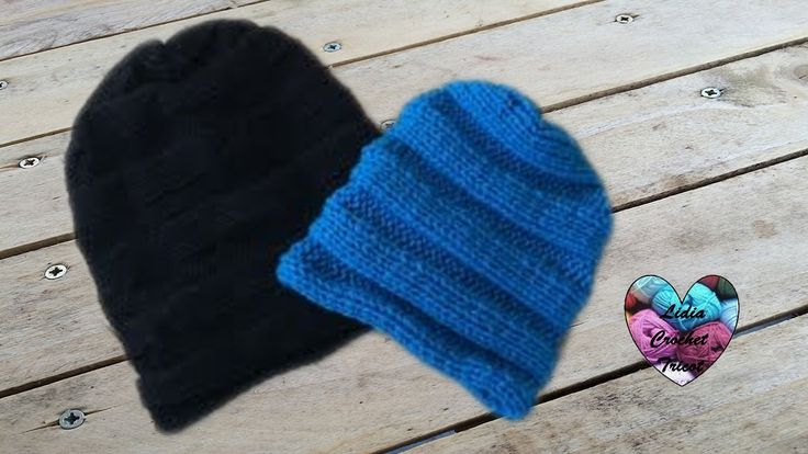Bonnet tombant unisex toutes tailles/ Slouchy knit all sizes - YouTube