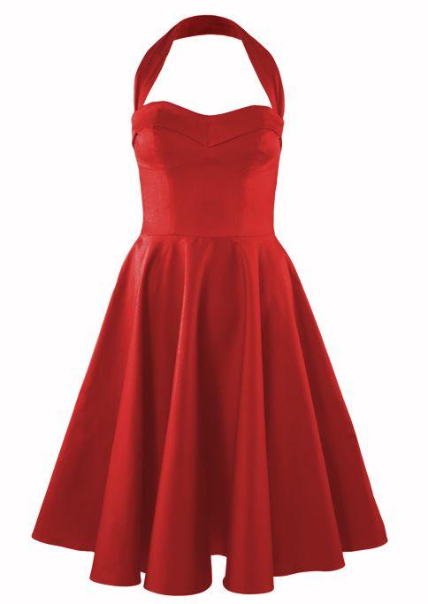 1950s Circle Dress - Crimson