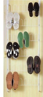 over door shoe rack at store a really neat shoe storage idea which will hold up to 18 pairs of shoes