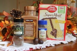 How To Make a Spice Cake from a Yellow Cake Mix submitted by Brittany ~ The Sisters Cafe - Because of my allergy to gluten, egg whites and milk, I've been looking for ways to enjoy my favorite foods in safe ways. I bought a gluten free yellow cake mix and will turn it into a spice cake so I can make my pumpkin muffins. (Made with spice cake, greek yogurt and canned pumpkin, YUM!)