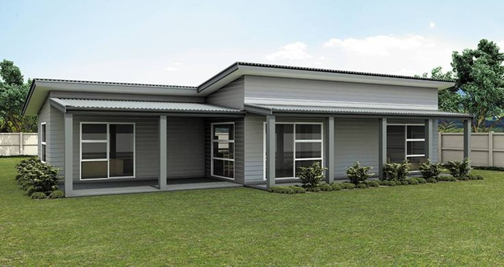 Single storey flat roof house plans in south africa - Single story 4 bedroom modern house plans ...