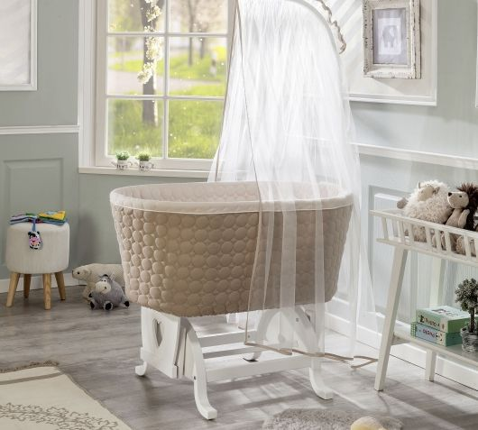 Luxury Das wundersch ne Bassinet Stubenbett ist f r Babys w hrend der ersten Monate geeignet