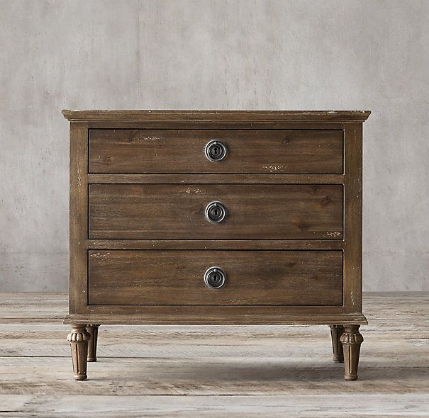 Loving this look for nightstands....maybe RH outlet?