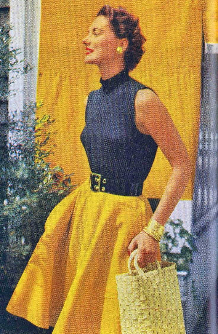 Turtleneck Sleeveless Sweater Pattern - Vintage Patterns Dazespast Blog #vintagepatterns