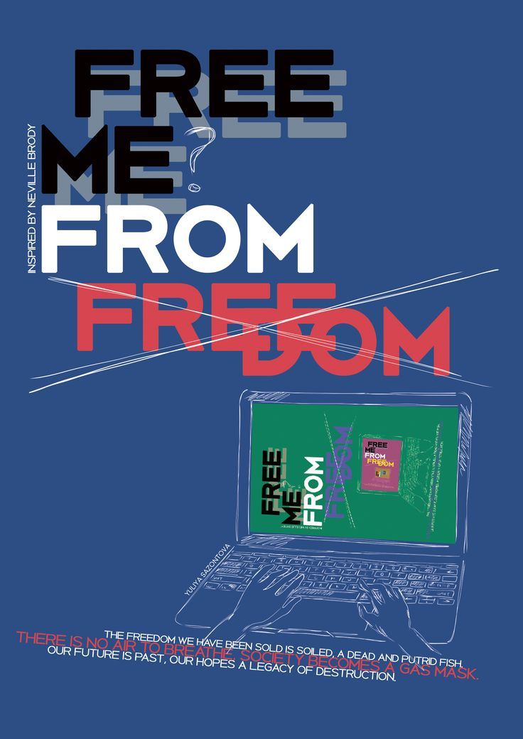 Poster inspired by Neville Brody art ¨free me from freedom¨ #neville brody #illustration #poster #graphic design