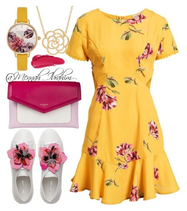 """""""#Casual #flowery #Spring"""" by mennah-ibrahim on Polyvore featuring Socialite, Givenchy, Ted Baker and Lord & Taylor"""