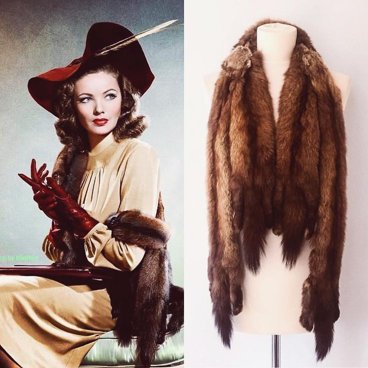 Gene Tierney looking ever so stylish. We have a stole just like hers