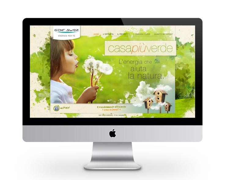 casapiùverde - Minisito per l'offerta di GDF SUEZ Energie
