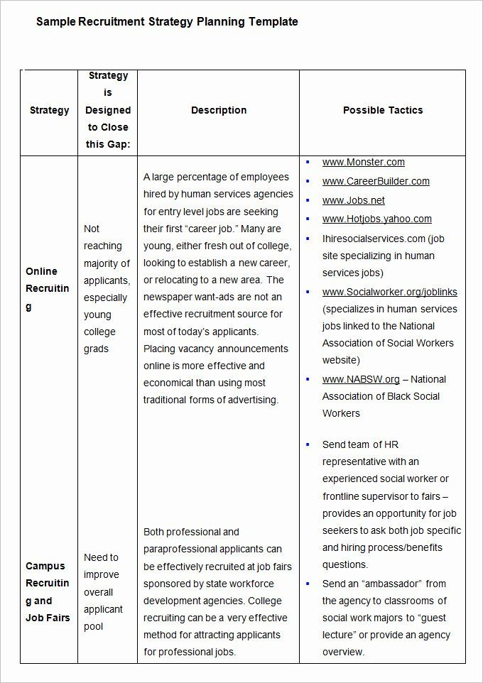 Recruitment Strategy Plan Template Elegant Hr Strategy Template 31 Word Pdf Documents Download Recruitment Plan Business Plan Template How To Plan