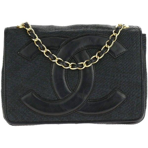 Preowned Chanel Timeless CC Raffia Mini Flap Bag (1,495