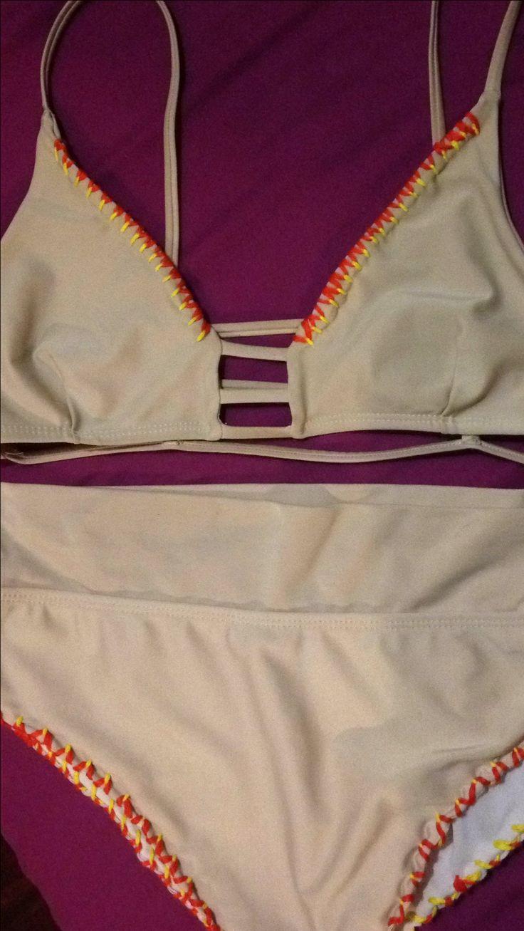 Embroidery on bikini