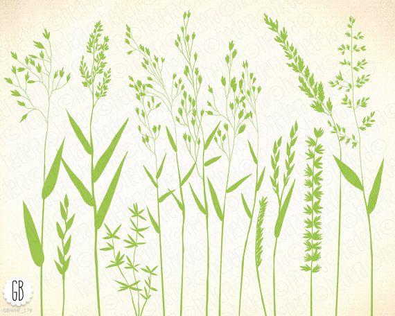 Graminées herbes sauvages fleurs sauvages par GrafikBoutique