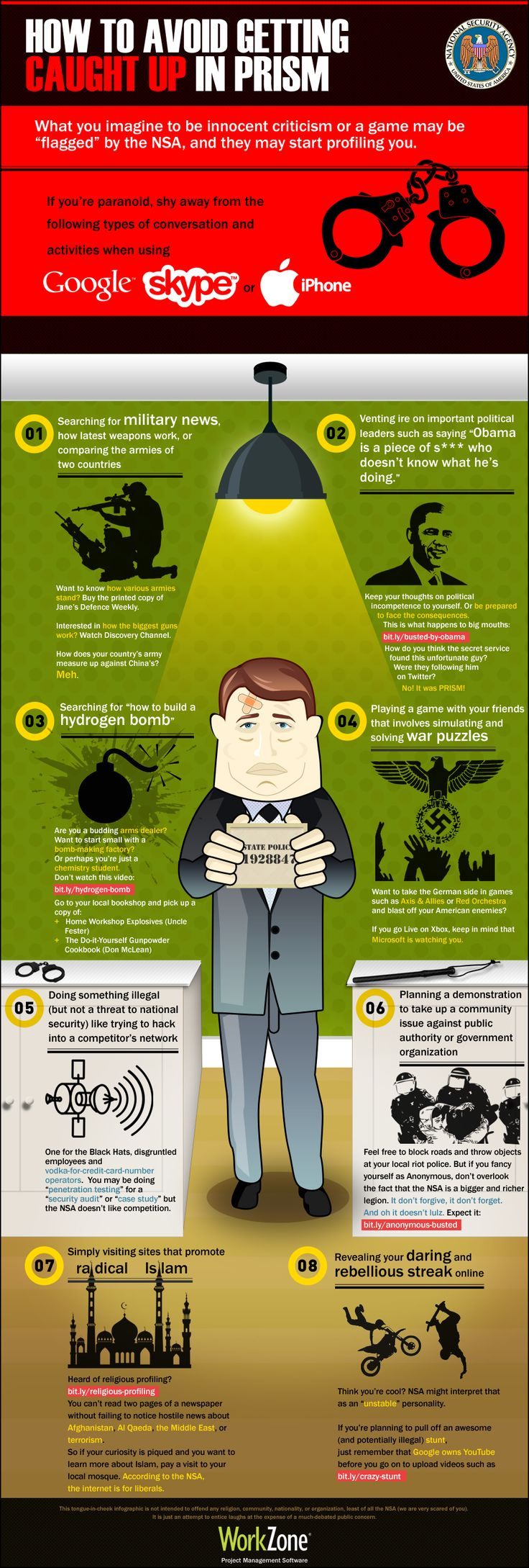 How To Avoid Getting Caught Up In Prism #Infographic #Humour