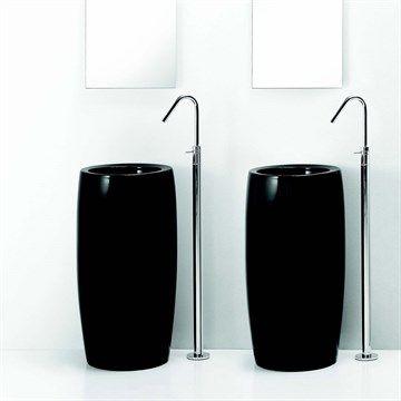 TOTO Black 1.0 - Flot sort håndvask i fritstående design fra italien