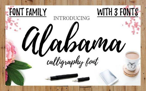 Digital Font Handwritten Calligraphy Font by ThePrintablesWorld
