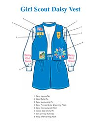 Girl Scout Daisy Vest. I'll never remember how this goes...