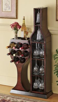 Conversation piece wine rack @Ginny's