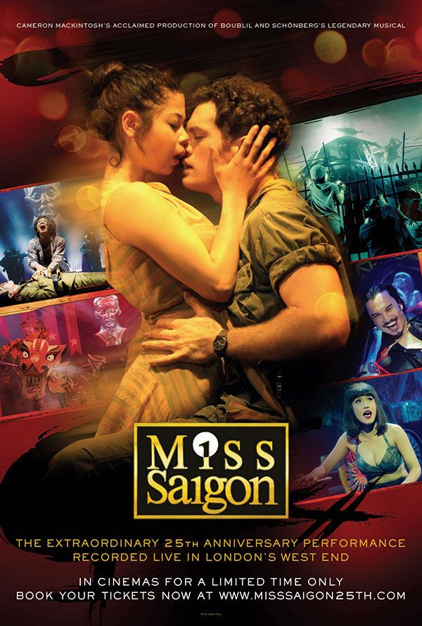 Miss Saigon: 25th Anniversary The movie tells the story of an American GI who falls for a Vietnamese bar girl in 1975, just as America is about to hightail it out of the war zone. Soon, their lives are torn apart by the fall of Saigon.