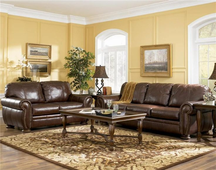 Ideas On Decorating A Living Room With Brown Leather Furniture   Google  Search