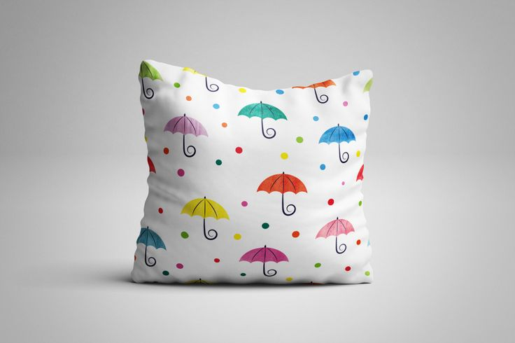 Umbrella Cushion. 12 x 12 inch Cushion by NJsBoutiqueCo on Etsy