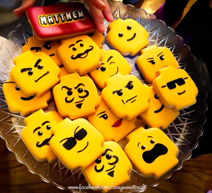 Lego head cookies