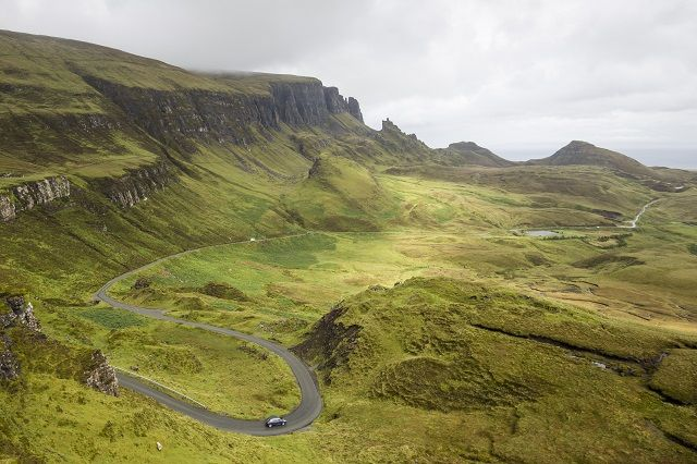 The Quiraing Loop, Isle of Skye. With sensible shoes and waterproofs at the ready, embrace the rugged misty features of the island – the Quiraingloop and the Old Man of Storr are each truly mesmerizing places to photograph and explore on foot. Reward a day of walking with a dram at the Talisker Distillery and enjoy the sweet tastes of the island's full-bodied whisky.