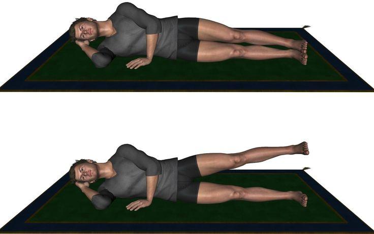 ¿Cómo eliminar los gorditos de la cintura? Un ejercicio fantástico es recostarte de lado y levantar la pierna que queda arriba en 5 sets de 20 repeticiones. Además, fortalecerás el muslo y los abdominales.
