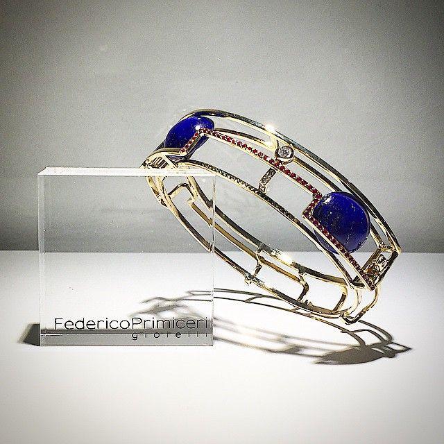 Archtecture & Jewellery. Alchemy & Geometry. From Federico Primiceri's last works, the unique tailor-made 18 kt gold bracelet for man with diamonds, rubies, tzavorite, lapislazuli @federicoprimiceri #federicoprimiceri #finejewellery #jewels #madeinitaly #tailormade #geometry #architecture #alchemy #bracelet #handmade #picoftheday #instadaily #lapislazuli #diamonds #ruby #tzavorite #manstyle #TuesdayMood #spring #lecce #maisonfedericoprimiceri #showroom #luxury